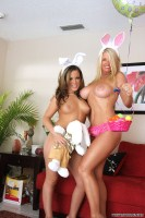 EASTER BUNNIES! Vicky Vette & Carmen Valentina Want Easter Fuck! from vicky at home